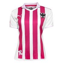 Jersey Rosa Rayados Monterrey Dama Project Pink Puma