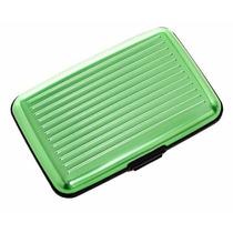 Cartera De Aluminio Plixio Verde Y Caso De La Tarjeta De