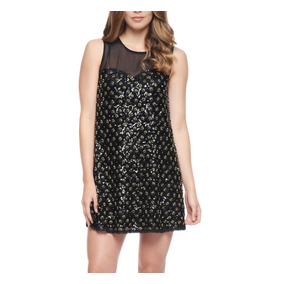 Vestido De Fiesta Corto Bordado Juicy Couture Talla Us6
