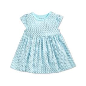 Blusa First Impressions Niña 3-6 Y 6-9 Meses Azul Cielo