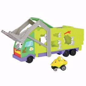Caminhão Lixo Trash Pack Wheels Caminhão Cegonha Lixo Dtc