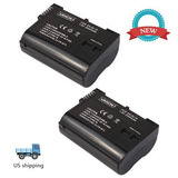 2 X Batería En-el15 Para Nikon D7100 D7000 Mb-d11 De...