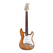 Guitarra Electrica Onas Stratocaster Natural Wood Bolt On