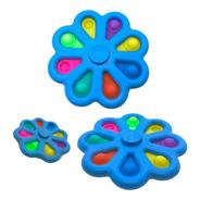 Pop It Y Spiner 2 En 1 Anti Estrés 8 Burbujas Premium 8 Cm