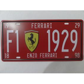 Placa Metal Decorativa Alto Relevo Scuderia Ferrari Exclusiv