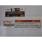 Etiqueta Advertência Tanque Rd 350 86/93 Original Yamaha 0km