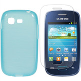 Capa Samsung Galaxy Pocket Neo S5310 S5312 Tpu Escovada Azul