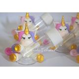 20 Mini Tubetes Unicórnio Tubete Lembrancinhas Biscuit