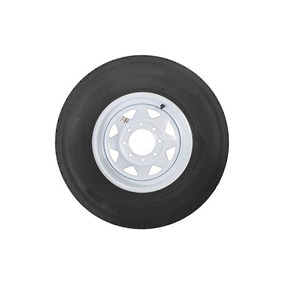 Proveedor 235/80 / R16 Lr E 8 Lug White Spoke Trailer Tire /