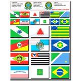 Cartela De Adesivos Bandeiras Dos Estados Região Sul, Sudest