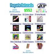 Paquete Batucada Fiesta Boda Xv Años Neon Led Graduación