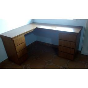 Escritorio esquinero muebles para oficinas en mercado for Muebles de oficina usados en rosario