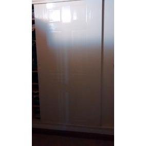 dos puertas corredizas de placard sin marco de madera