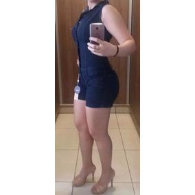 Macaquito Macacão Jeans Estilo Pitbull Bojo Modela Bumbum