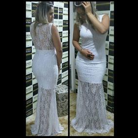 Vestido Sereia Longo De Festa/noiva Em Renda Varias Cores