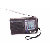 Radio De Bolso Pulsation Kk-9 Am/ Fm/ Sw/ Tv/ Entrada Fone