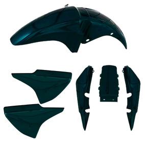 Kit Plastico Carenagem P/ Titan 150 Ano 2004 Verde Metálico