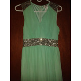 Vestido Color Verde Agua Largo Para Dama Talla M