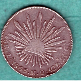 Moneda Antigua Plata Ocho Reale Zs 1863 M.o. Linda P24