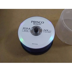 Dvd Virgen Original Princo Slim 4.7 Gb 120 Min 24x - Taiwan