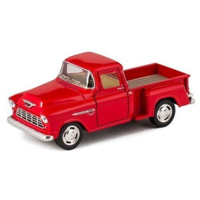Chevrolet Pickup Stepside 1955 Escala 1:32 Kinsmart Rojo