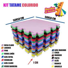 Kit 30 Pçs Tapete Tatame De Eva Infantil Quarto 50x50 10mm