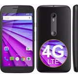 Motorola Moto G3 4g Lte 8gb Libre 13mp Color Negro En Caja