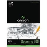 Bloco Papel Canson Desenho C A Grain 200 / 224gr A3 20 Fls