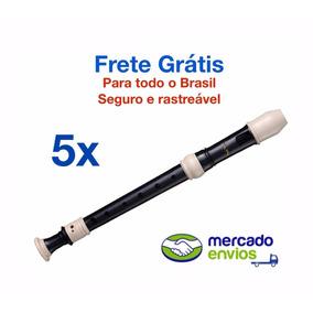 5x Flauta Doce Contralto Barroca Zion, Forma Grupo C/ Yamaha