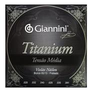 Encordoamento Giannini Violão Nylon Titanium Tensão Média