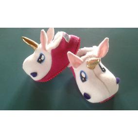 Pantuflas Unicornio Talles 31/32 Al 35/36. Vericueta