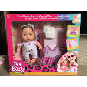 Boneca Baby Closet Ref: 0811 Bee Toys Faz Xixi Fraldinha