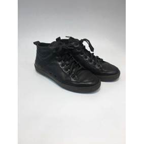 Zapatillas De Cuero Hombre Demócrata Muy Poco Uso Negra