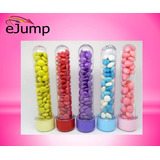 50 Tubos Golosineros 13cm Tapa Color Souvenir Cumple Candy