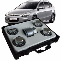 Porcas Antifurto Cromado Rodas H1/m Hyundai I30 Cw