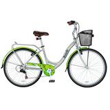 Bicicleta Bianchi Paseo Aro 26 Alloy Plata/verde Pistacho