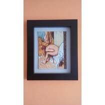 Cuadro Al Óleo De Mujer Bañista De Edgar Degas