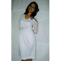 Vestido De Novia Blanco Boda Civil Sencillo Hasta La Xl
