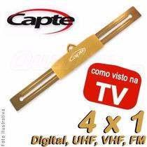 Antena Amplificada Capte Ouro Externa 27 Db Com Booster