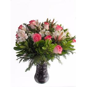Flores Hermoso Arreglo De Rosas Para Regalo Boda, Xv Años