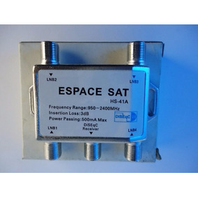 Chave Diseqc 4x1, Espace Sat Hs-41a, Frete Grátis