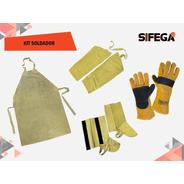 Kit Soldador Polainas+delantal+guante+manga Sifega