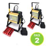 Pack 2 Foco Led Portatil Recargable 50w Inalambrico