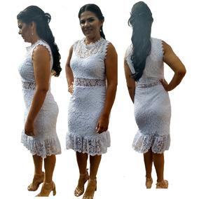 Vestido Noiva Casamento Civil Cartório Renda Guipir
