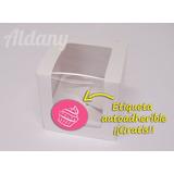 Paquete De 5 Cajas Para 1 Cupcake, Con Etiqueta De ¡regalo!