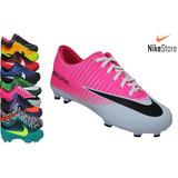 Chuteira Nike Campo Trava Branco Rosa Neynar Cr7 Brasileirão