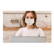 Máscara De Proteção Tnt Duplo C/ Clipe Nasal 10 Unid Chantal