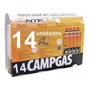 14 Unidades De Refil Campgás Original Nautika - Ntk