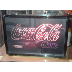 Cartel De Coca Cola Electronico Con Fibra Optica Ver Unico