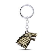 Chaveiro Game Of Thrones Winter Is Coming Stark Dourado Lobo
